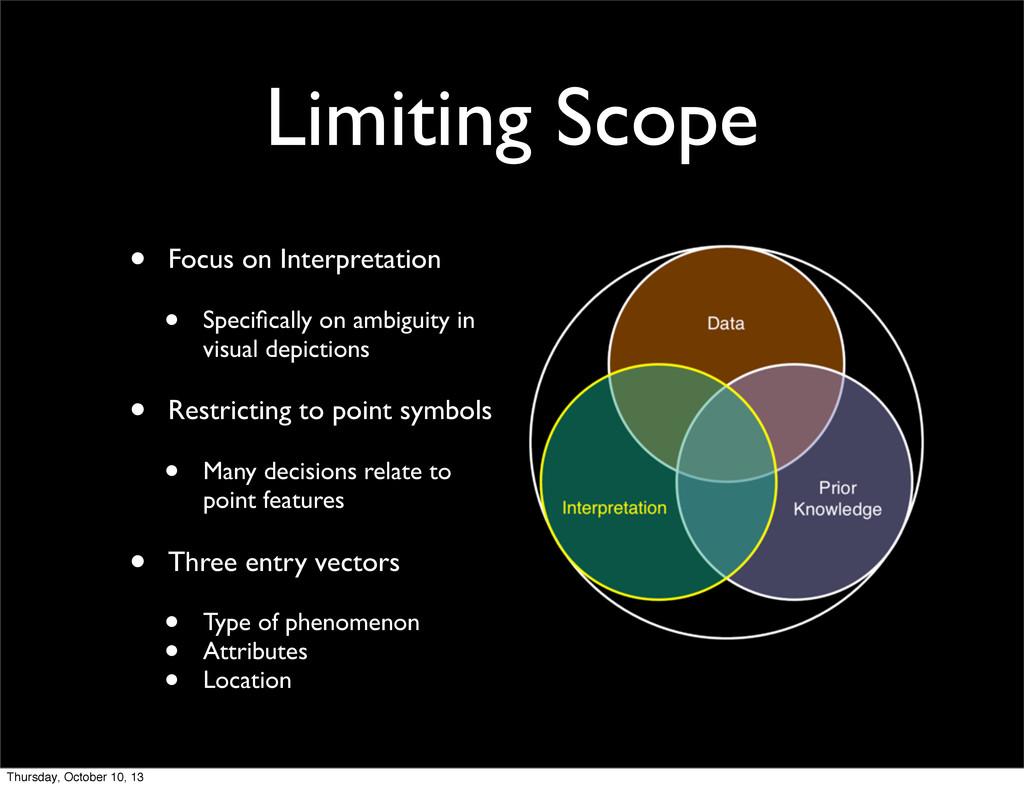 Limiting Scope • Focus on Interpretation • Spec...