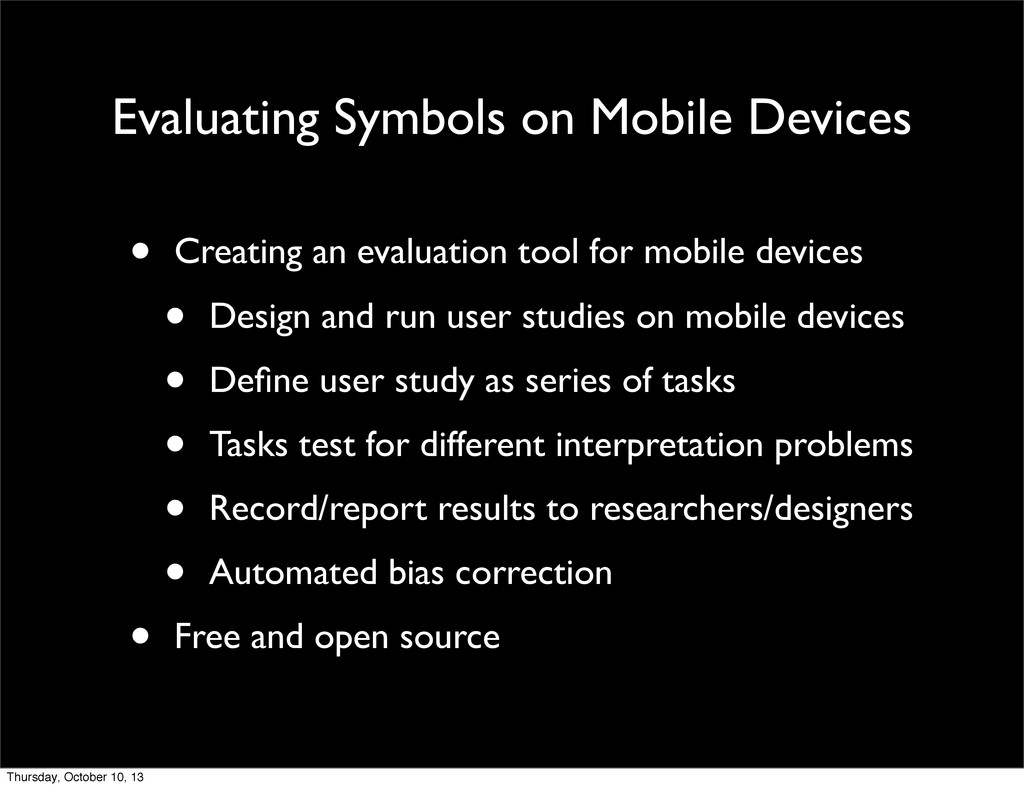 Evaluating Symbols on Mobile Devices • Creating...