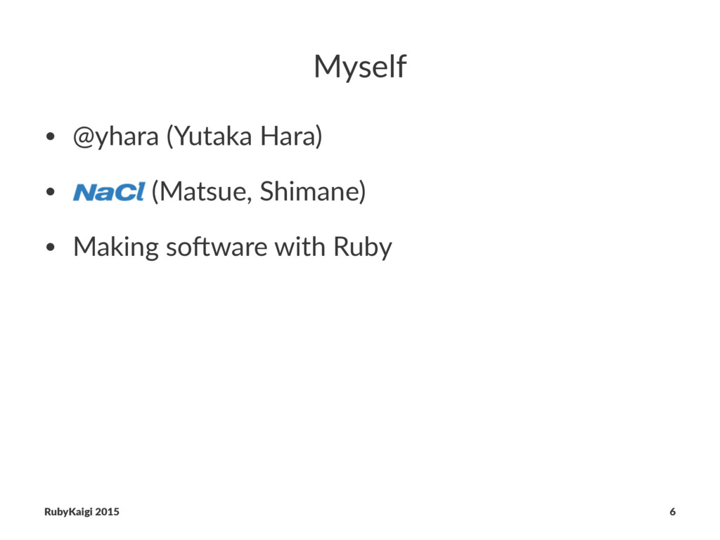 Myself • @yhara (Yutaka Hara) • (Matsue, Shiman...