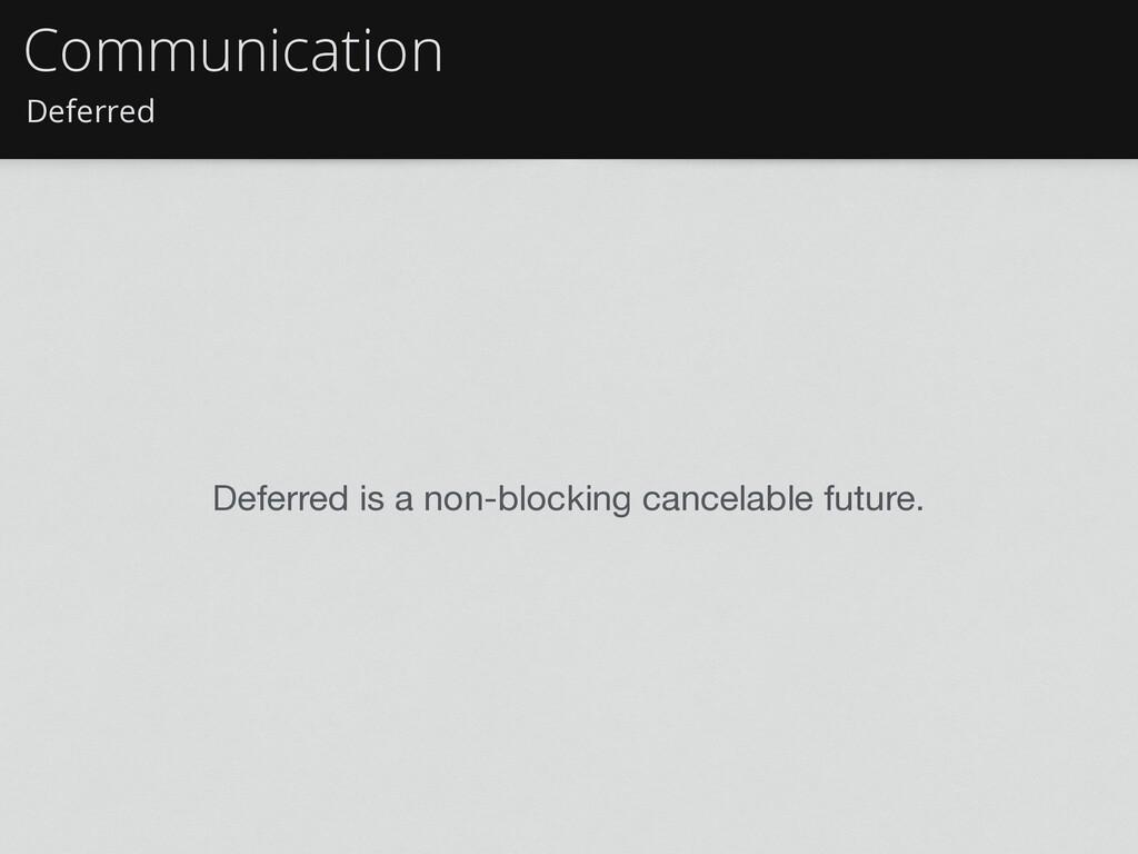 Deferred Communication Deferred is a non-blocki...