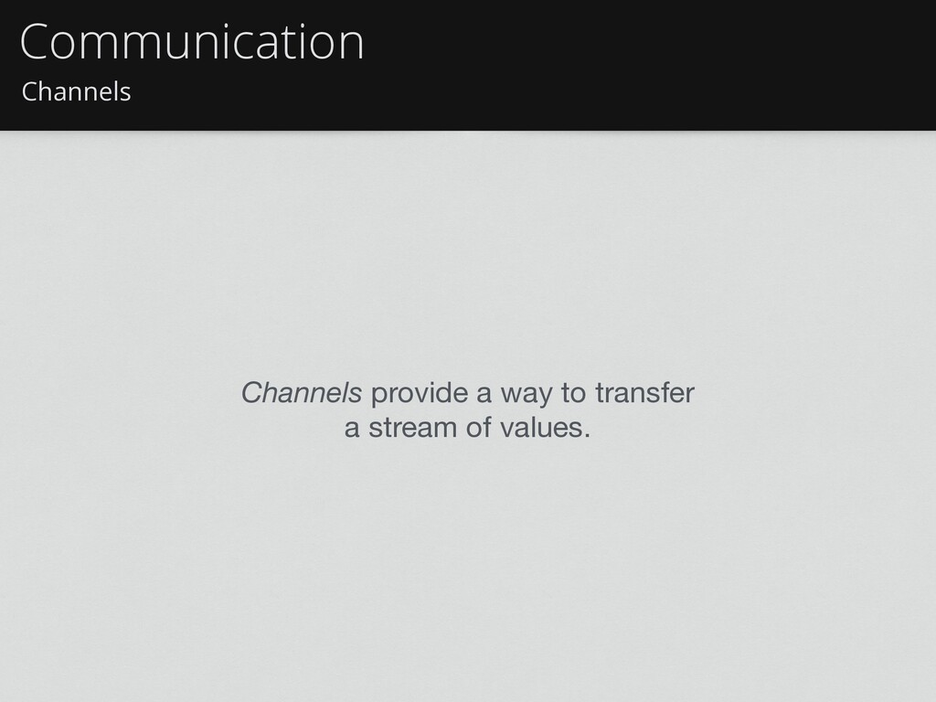 Channels Communication Channels provide a way t...