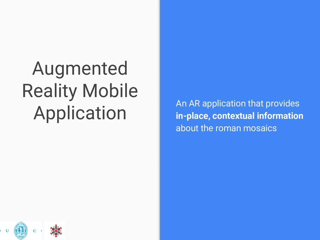Augmented Reality Mobile Application An AR appl...
