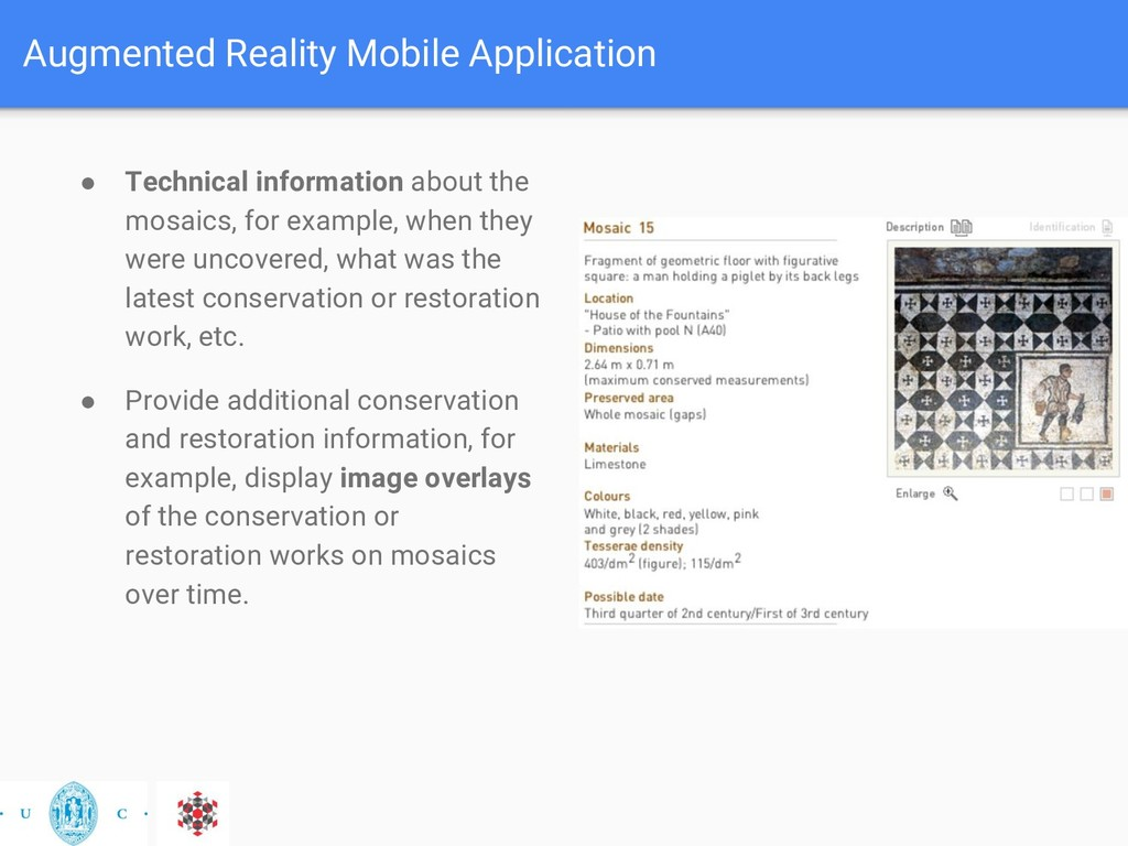 Augmented Reality Mobile Application ● Technica...