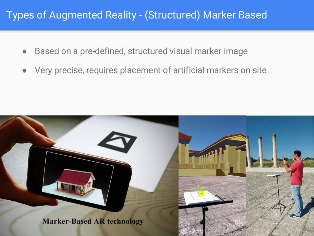 Types of Augmented Reality - (Structured) Marke...