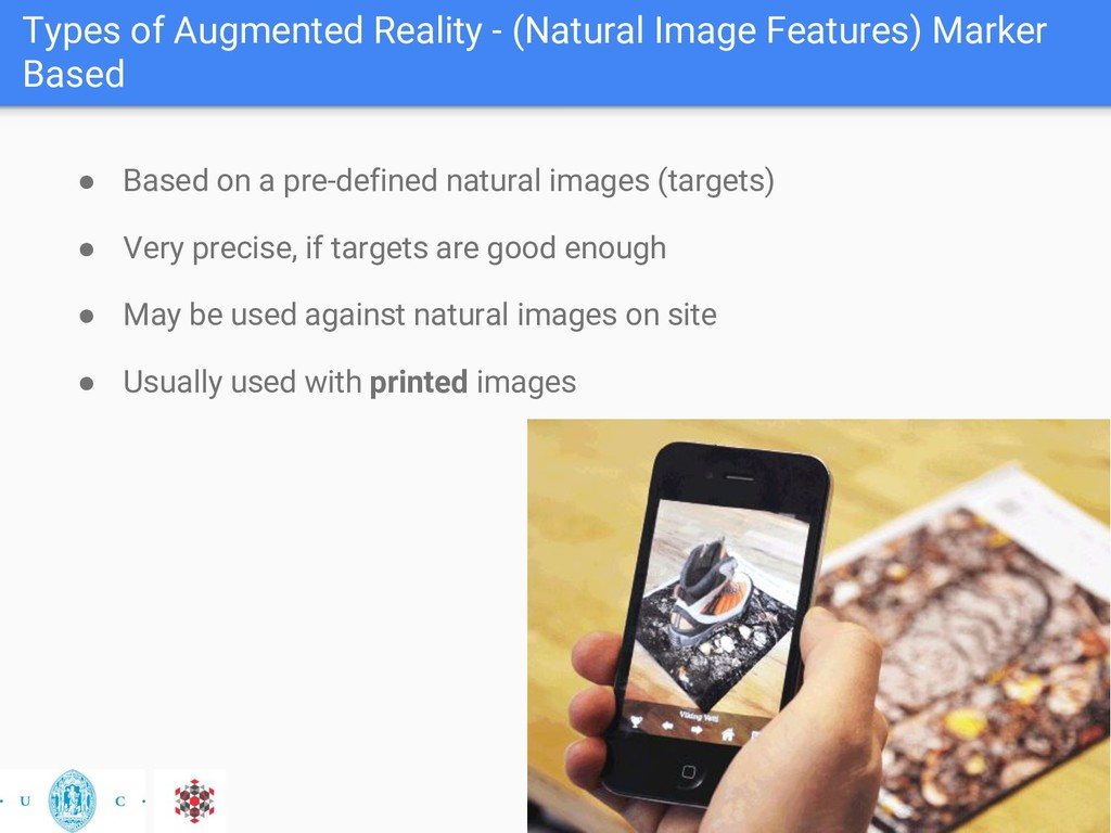 Types of Augmented Reality - (Natural Image Fea...