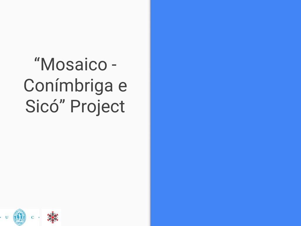 """Mosaico - Conímbriga e Sicó"" Project"
