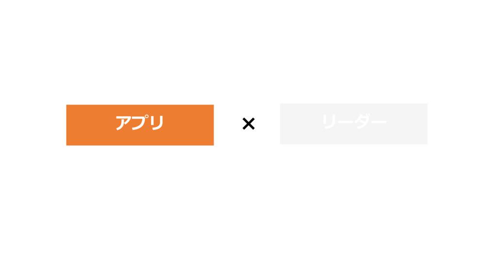 × アプリ リーダー