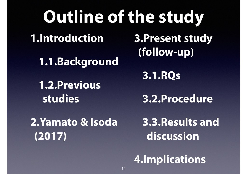 Outline of the study 11 1.Introduction 1.1.Back...