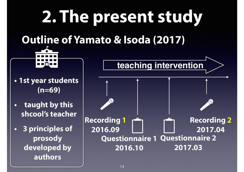 2. The present study Outline of Yamato & Isoda ...