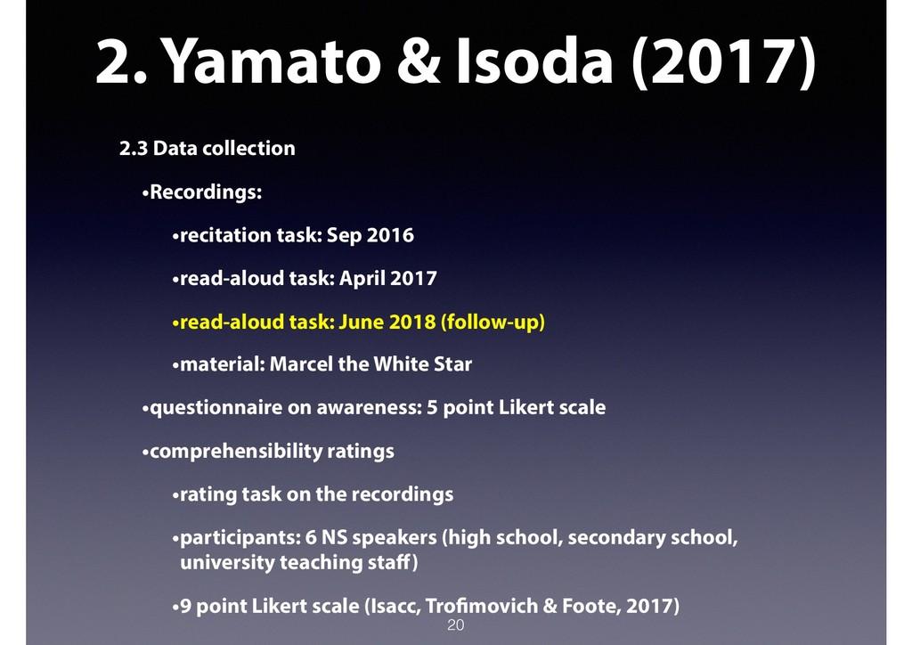 2. Yamato & Isoda (2017) 2.3 Data collection •R...