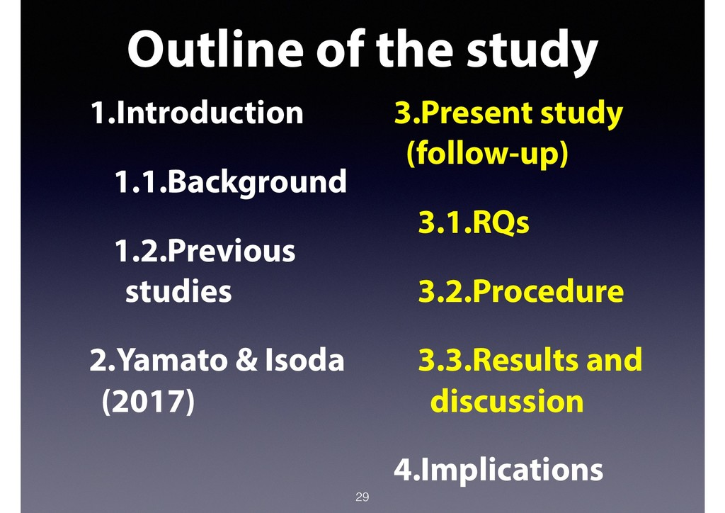Outline of the study 29 1.Introduction 1.1.Back...
