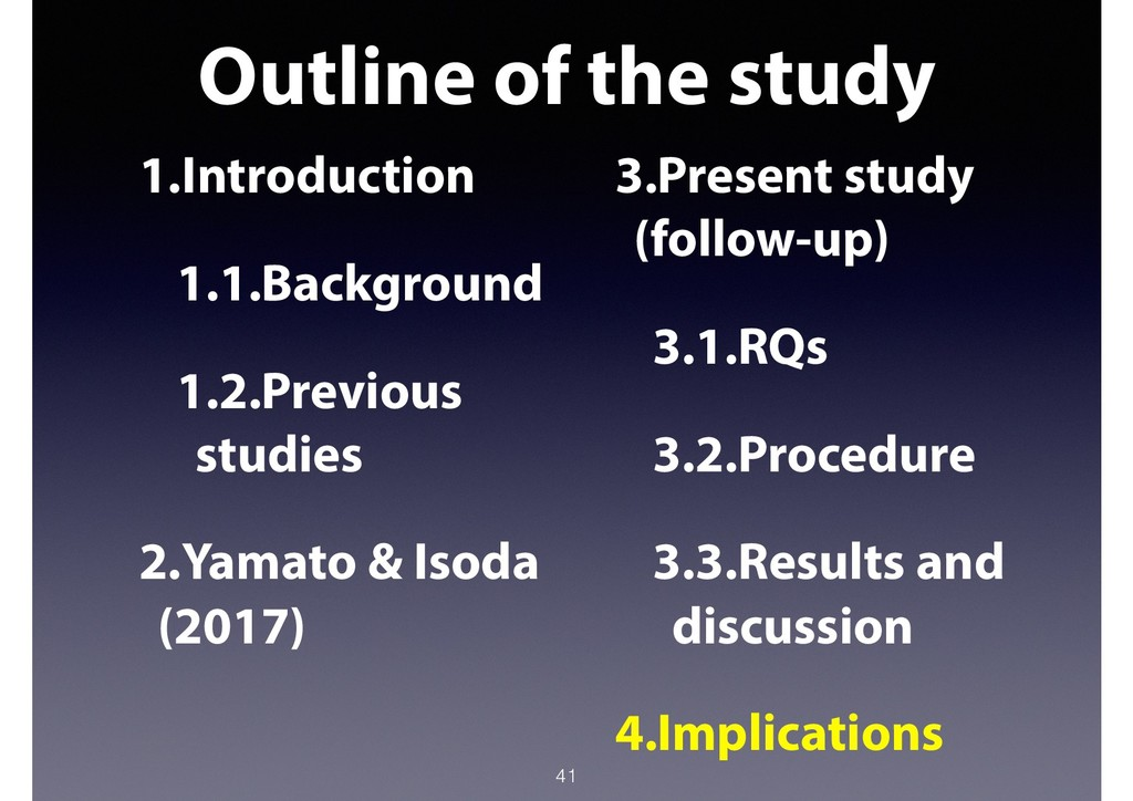 Outline of the study 41 1.Introduction 1.1.Back...