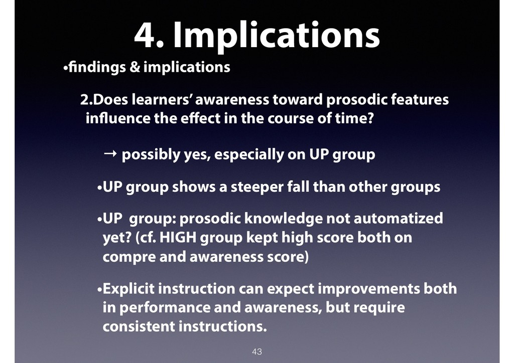 4. Implications •findings & implications 2.Does...