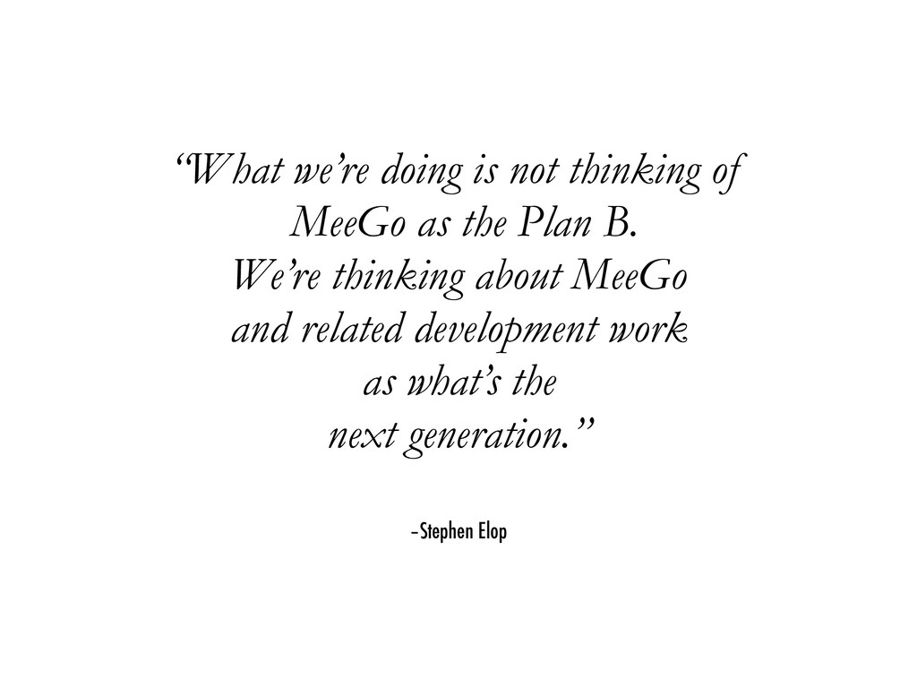 """–Stephen Elop """"What we're doing is not thinking..."""