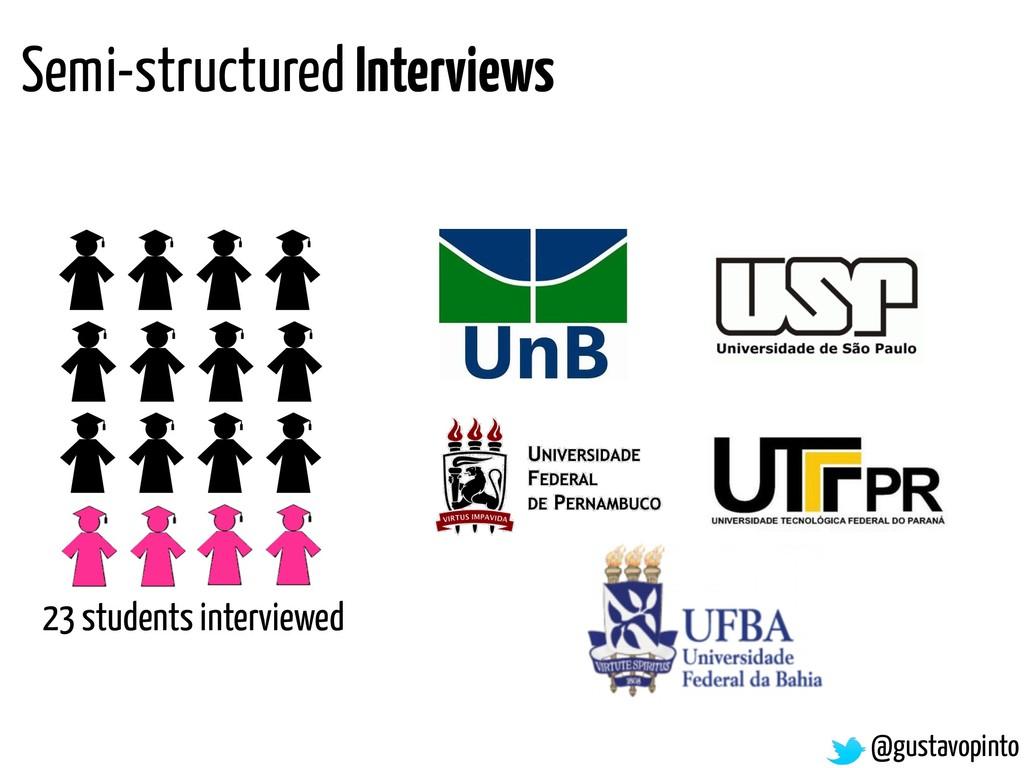 @gustavopinto Semi-structured Interviews 23 stu...