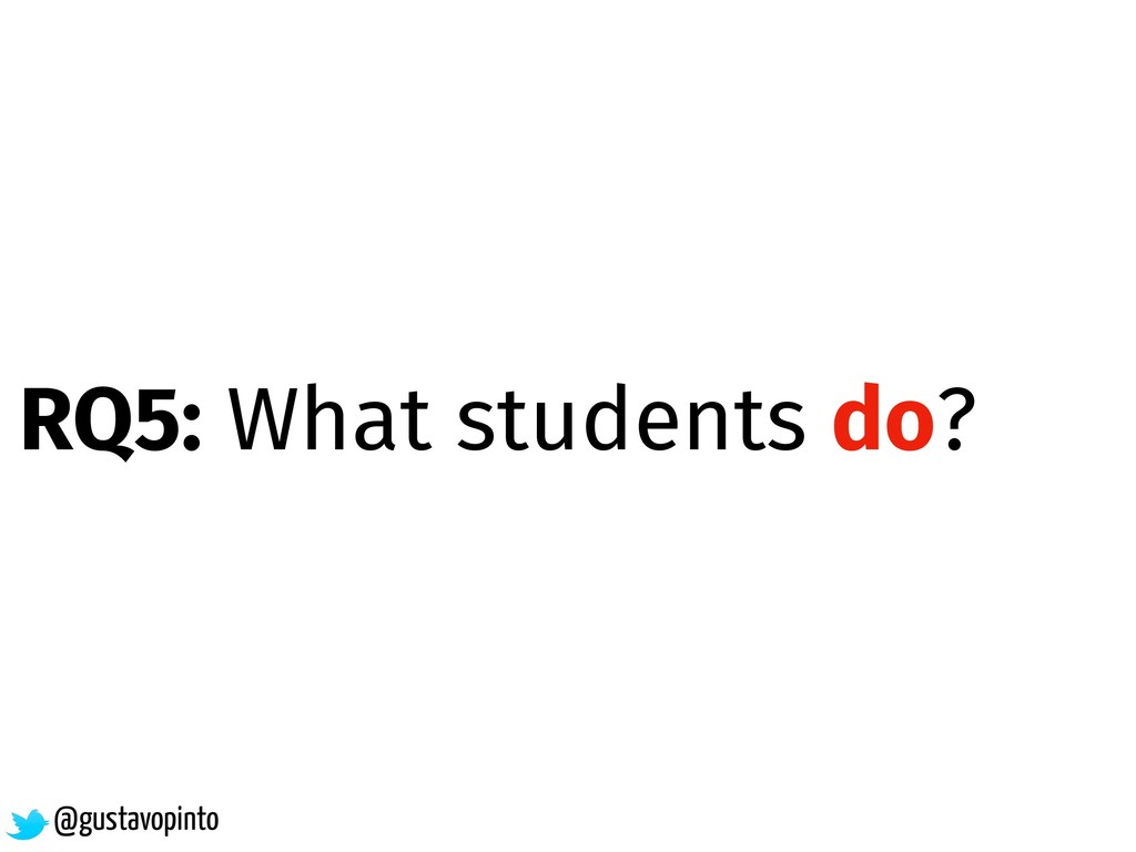 @gustavopinto RQ5: What students do?