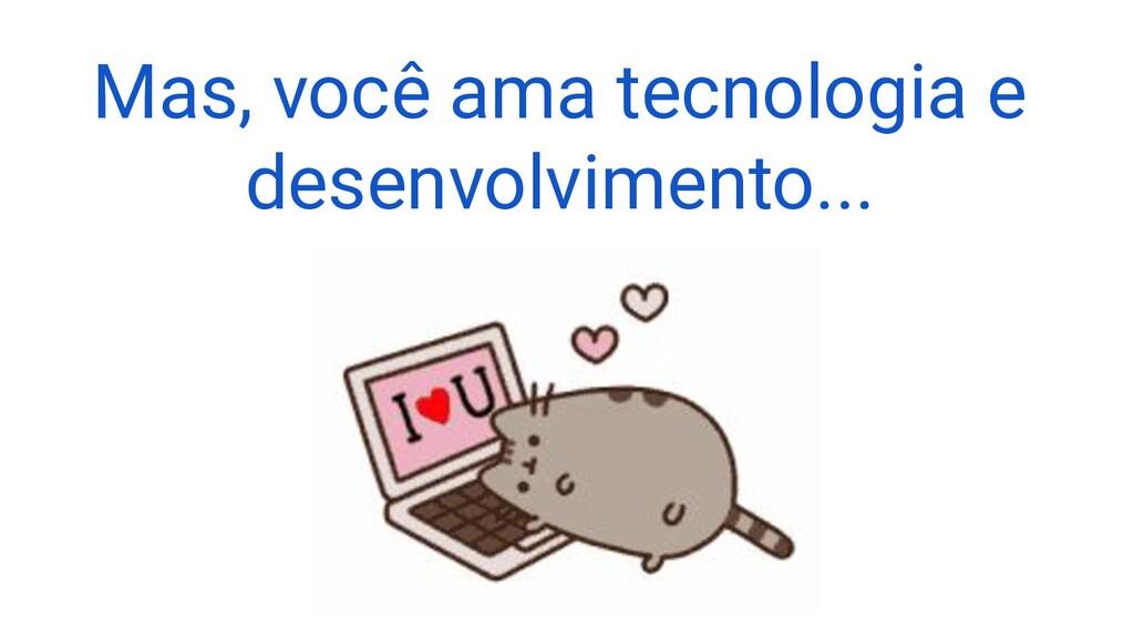Mas, você ama tecnologia e desenvolvimento...