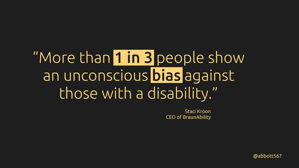 """""""More than 1 in 3 people show an unconscious bi..."""