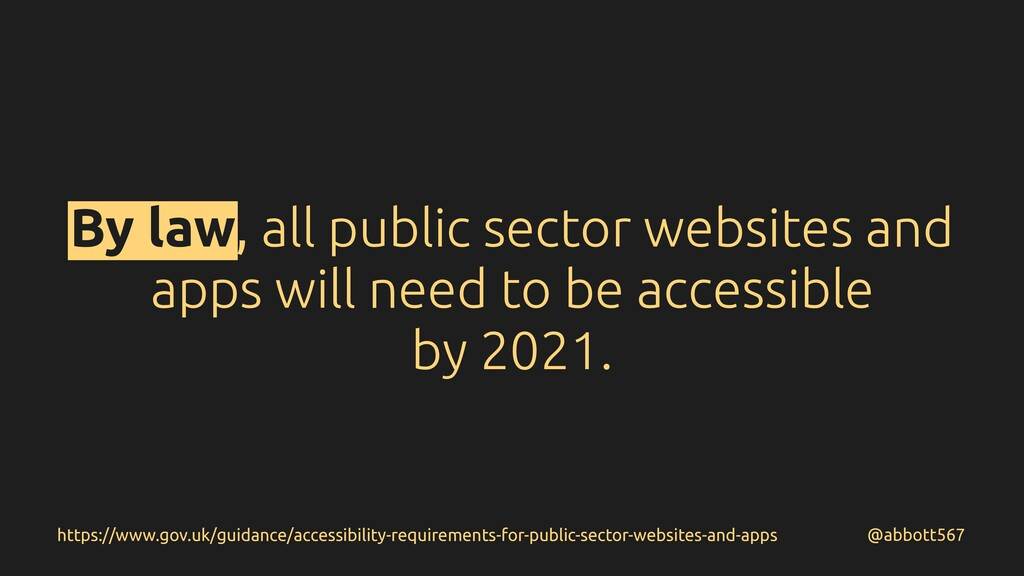 By law, all public sector websites and apps wil...
