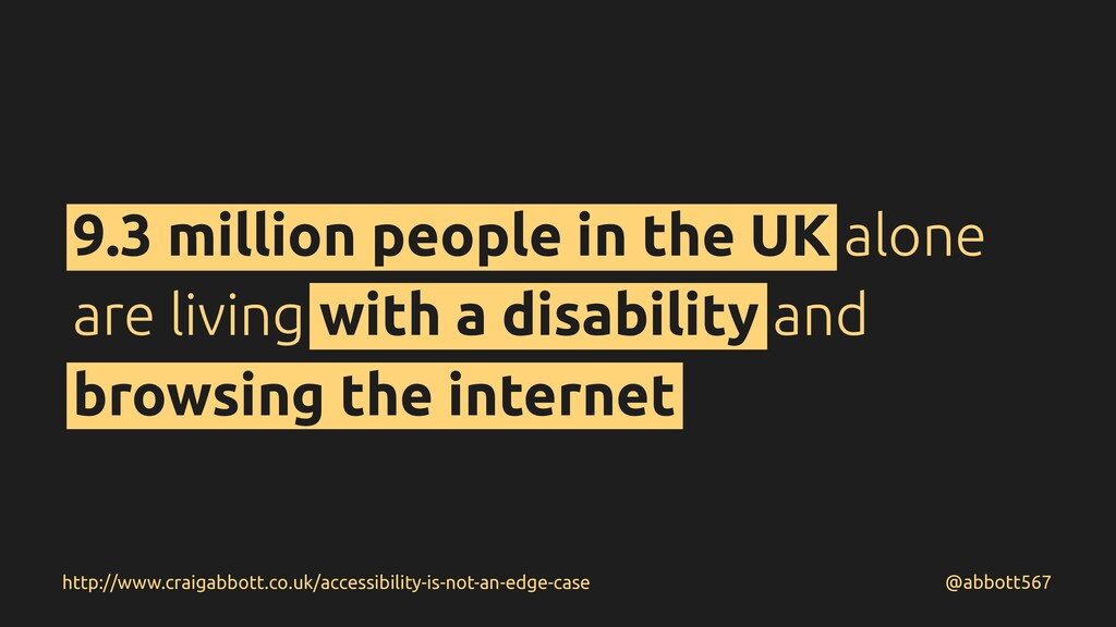 9.3 million people in the UK alone are living w...