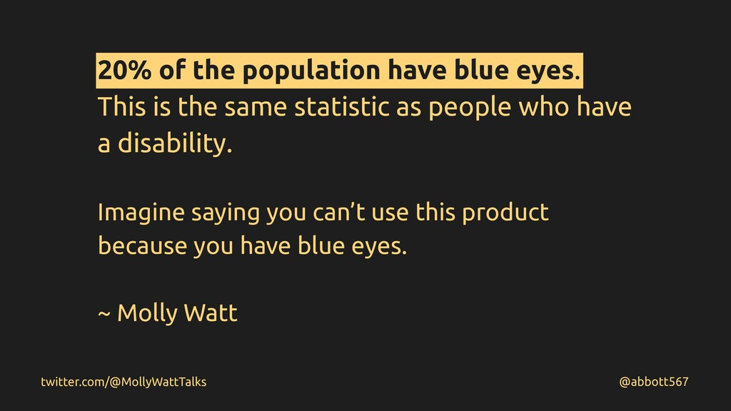 20% of the population have blue eyes. This is t...