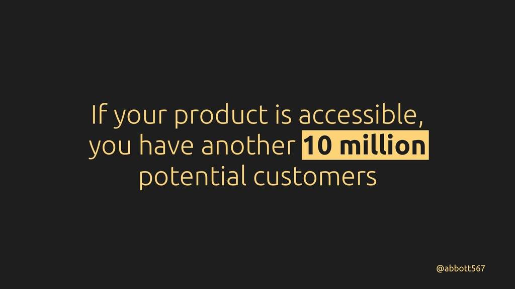 If your product is accessible, you have another...