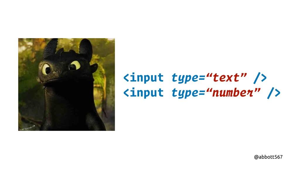 "@abbott567 <input type=""text"" /> <input type=""n..."