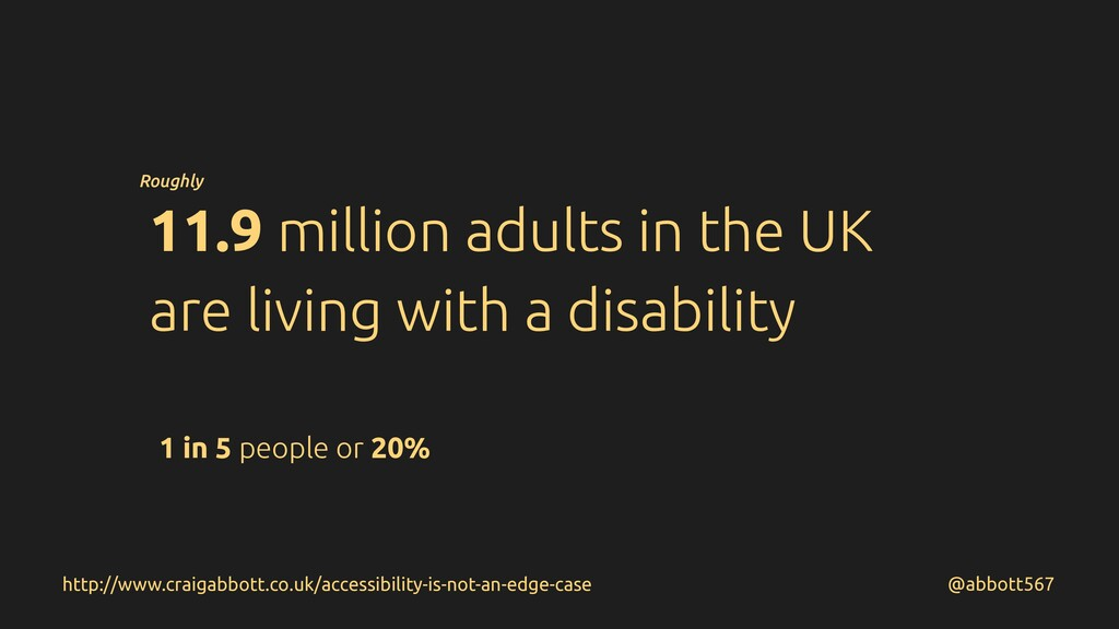 11.9 million adults in the UK are living with a...