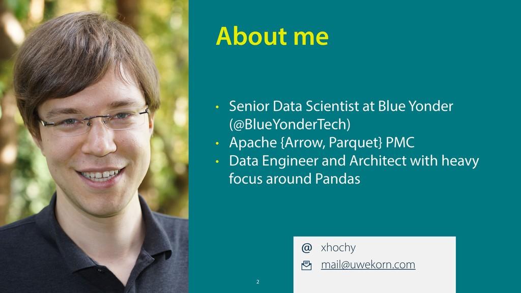 2 • Senior Data Scientist at Blue Yonder (@Blue...