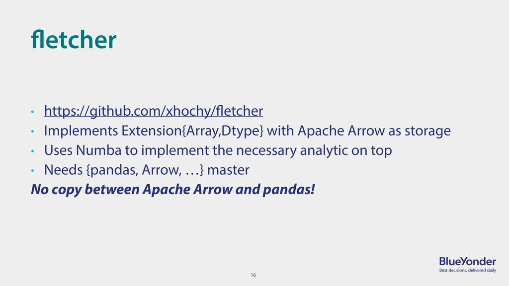 16 fletcher • https://github.com/xhochy/fletche...