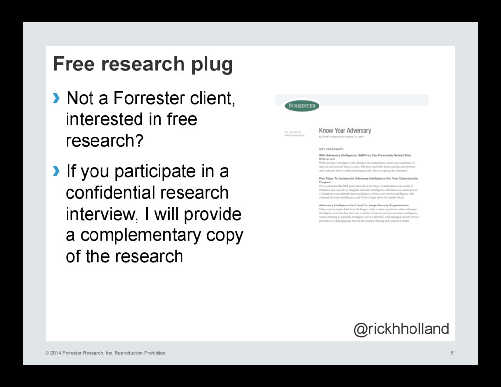 © 2014 Forrester Research, Inc. Reproduction Pr...