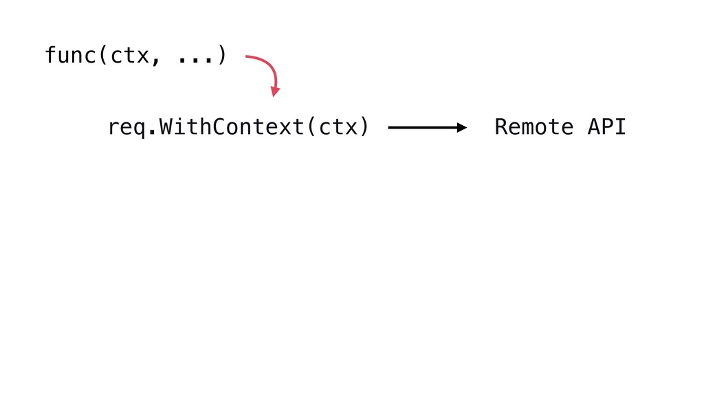func(ctx, ...) req.WithContext(ctx) Remote API