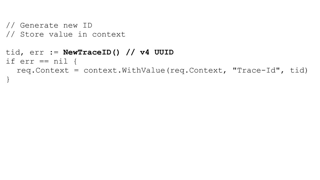 // Generate new ID // Store value in context ti...