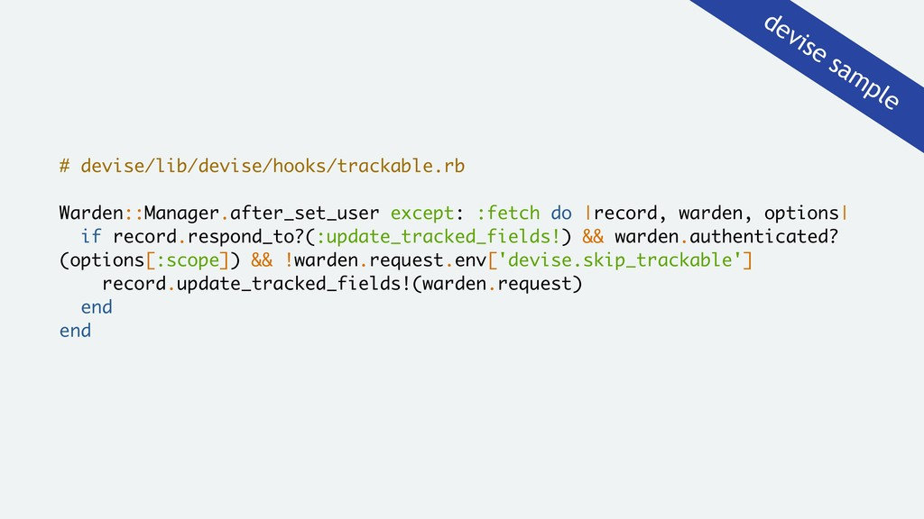 # devise/lib/devise/hooks/trackable.rb Warden::...