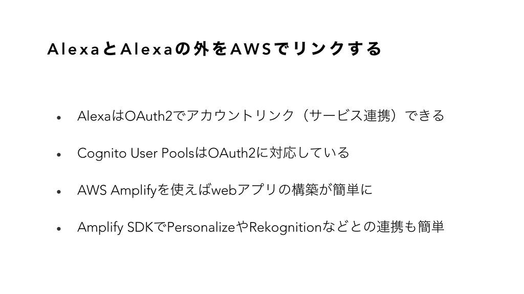 A l e x a ͱ A l e x a ͷ ֎ Λ AW S Ͱ Ϧ ϯ Ϋ ͢ Δ • ...