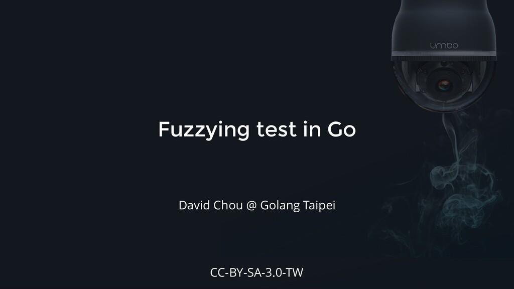 Fuzzying test in Go David Chou @ Golang Taipei ...