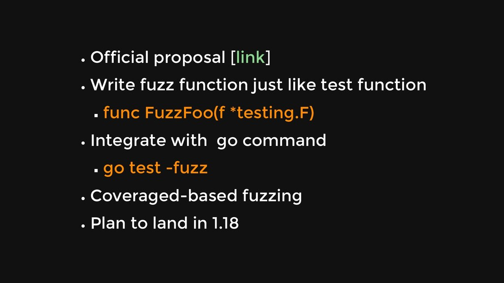 Official proposal [ ] Write fuzz function just ...