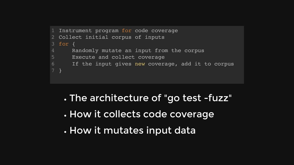 Instrument program for code coverage Collect in...