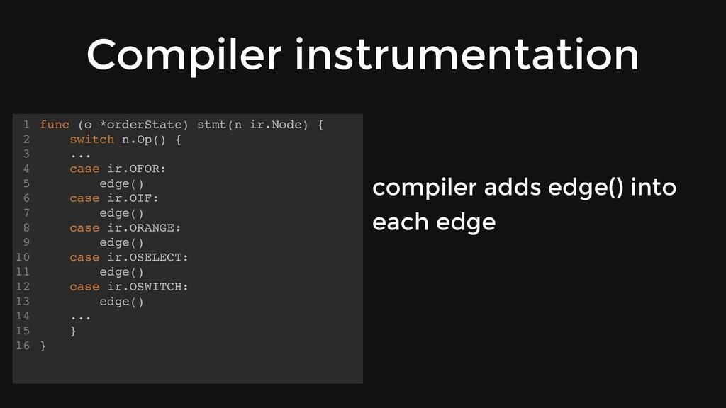 Compiler instrumentation func (o *orderState) s...