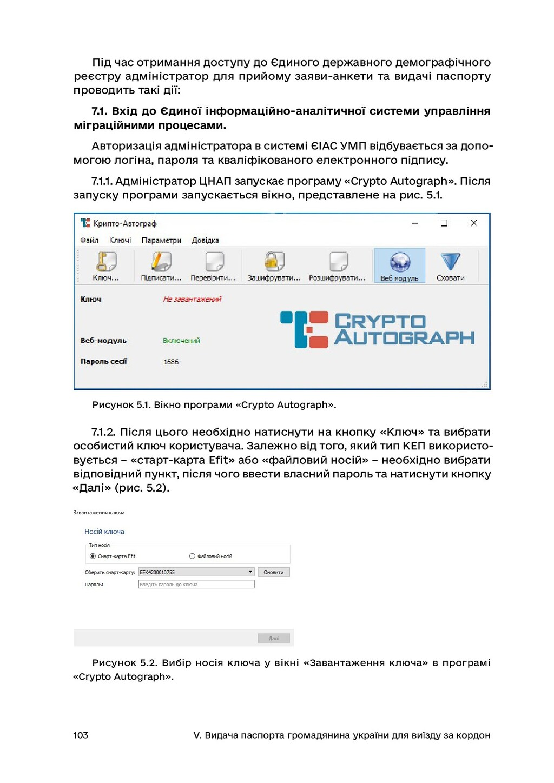 103 V. Видача паспорта громадянина україни для ...