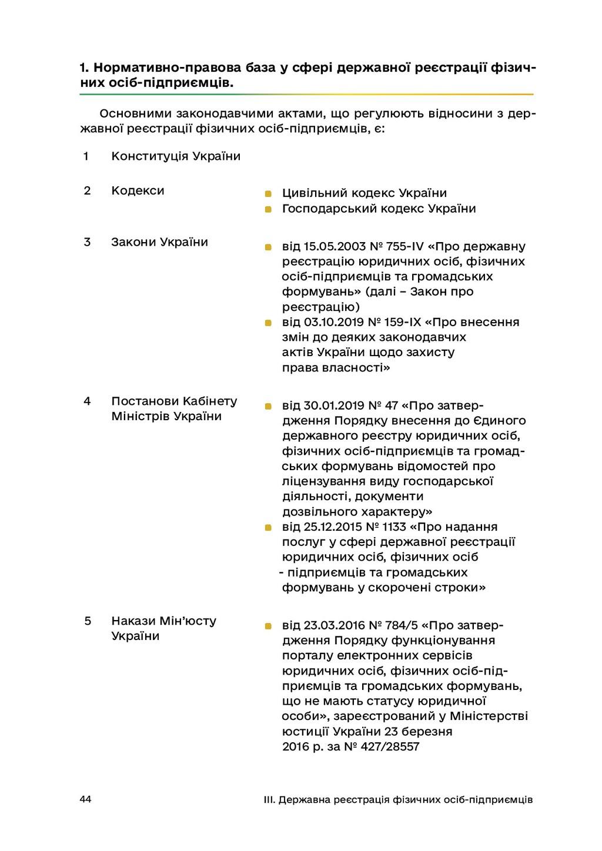 44 III. Державна реєстрація фізичних осіб-підпр...