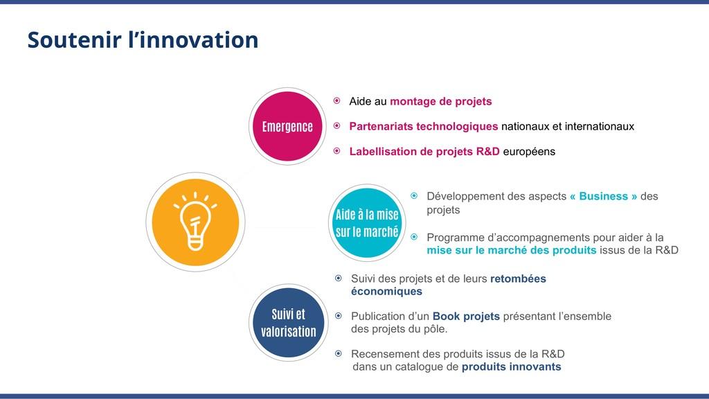Soutenir l'innovation ⦿ Aide au montage de proj...