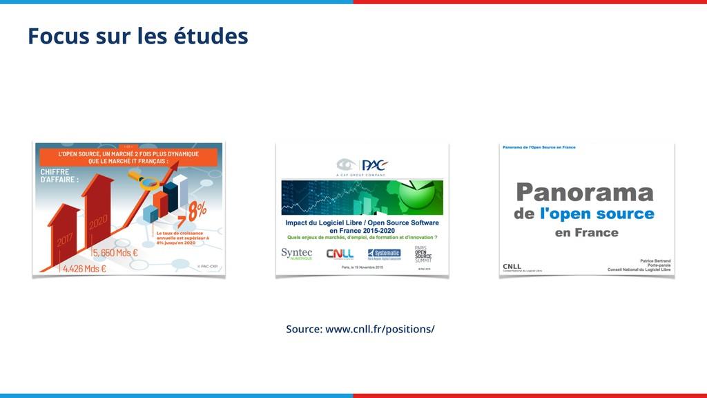 Focus sur les études Source: www.cnll.fr/positi...