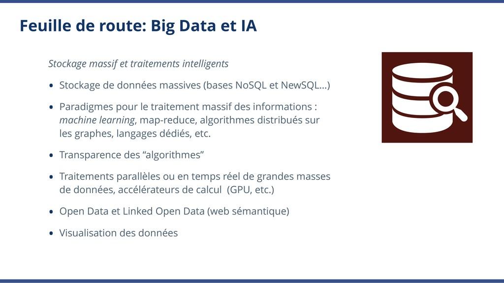 Feuille de route: Big Data et IA Stockage massi...
