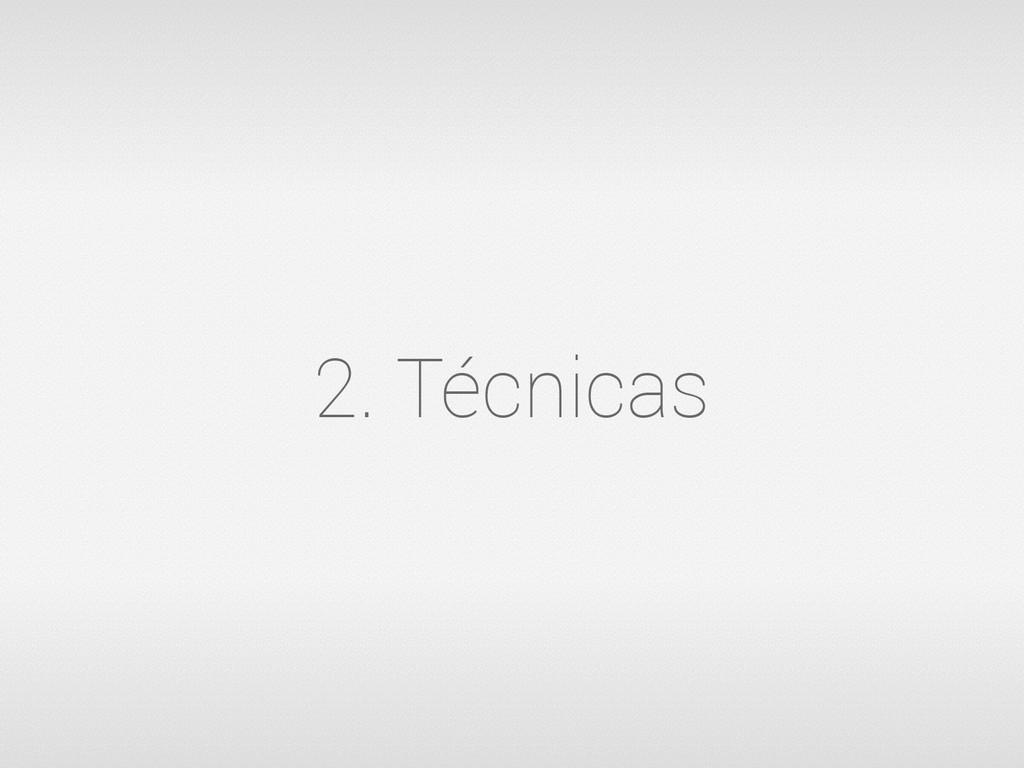 2. Técnicas