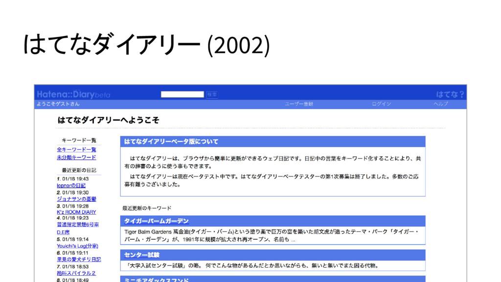 はてなダイアリー (2002)