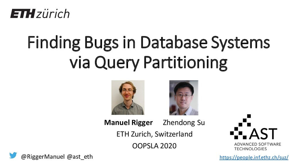 Finding Bugs in Database Systems via Query Part...