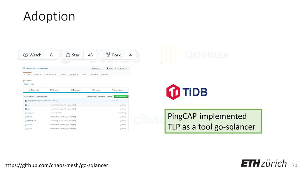 70 Adoption PingCAP implemented TLP as a tool g...