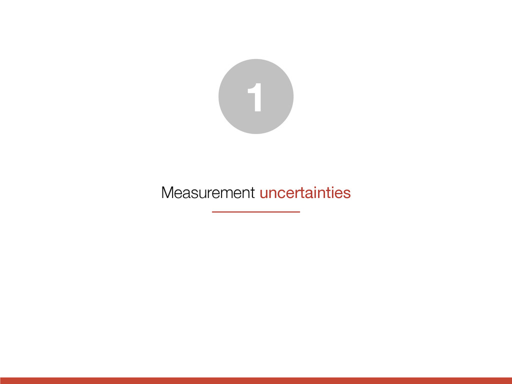 Measurement uncertainties 1