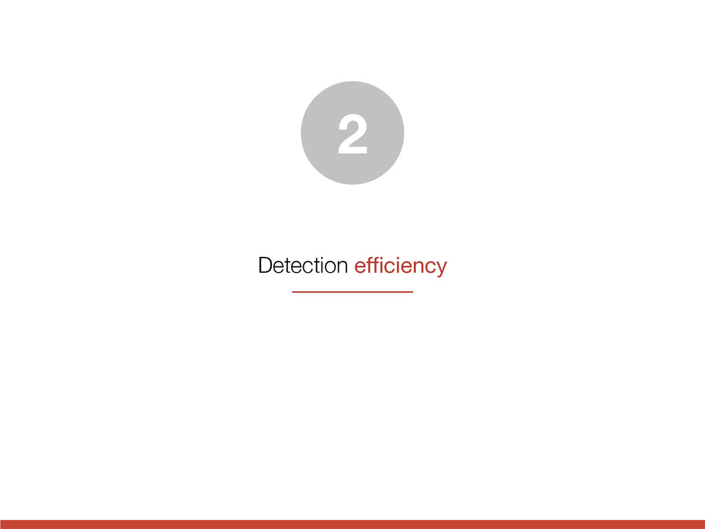 Detection efficiency 2